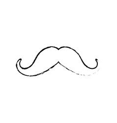 Vintage gentleman mustache vector image