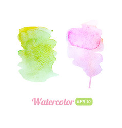 watercolor colorful stains vector image