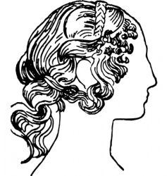 Woman's face silhouette vector