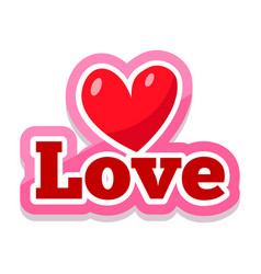 Word text love image vector