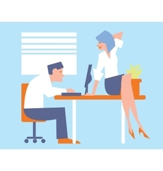Abstract business concept of office life vector image vector image