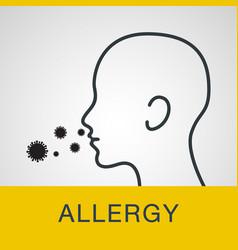 allergy logo icon vector image vector image