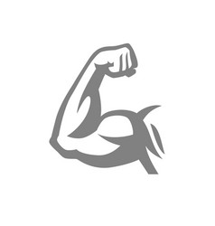 biceps muscle arm logo vector image