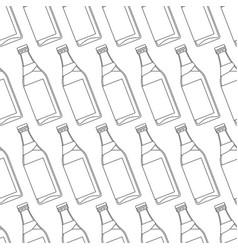 contour bottles pattern vector image