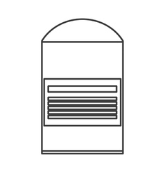 Cotton swab packet icon vector