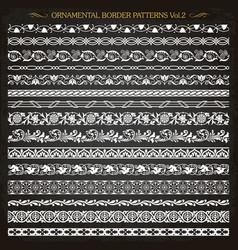 ornamental border frame line vintage patterns 2 vector image vector image