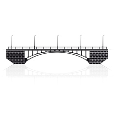 Reinforced concrete arch bridge in Kiev for cars vector image vector image