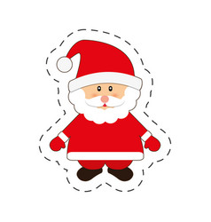 santa claus merry christmas cut line vector image