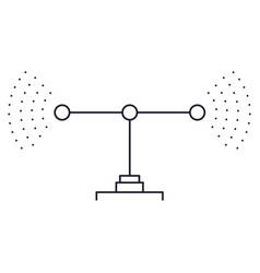 transmission antenna icon in monochrome silhouette vector image