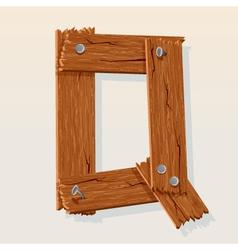 wooden letter q vector image