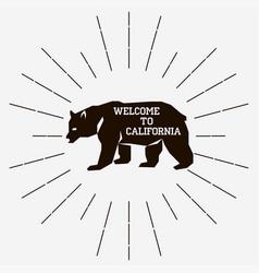 california retro vintage vector image