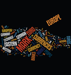 Euro impact on the east european countries and vector