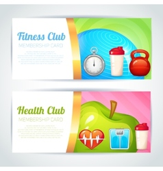 Fitness club card design vector image
