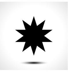 star shape icon symbol vector image vector image