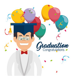 Student graduation easy learning vector