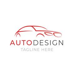 auto logo template car service or dealer shop vector image