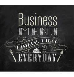 Business lunch chalk menu vector image