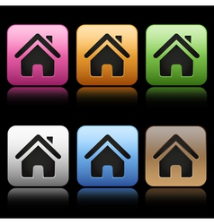Colorful home icons vector image vector image