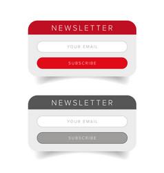 newsletter online form vector image