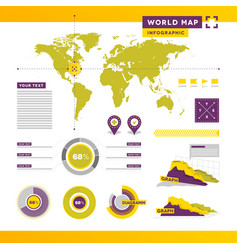 World Infographic vector image vector image