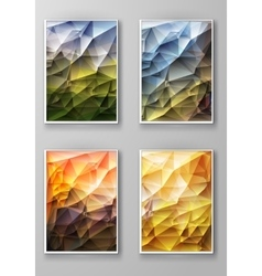 Brochure with Multicolored Polygonal Backgrounds vector image vector image