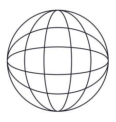 globe world icon in monochrome silhouette vector image vector image