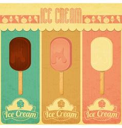 Ice Cream Dessert Vintage Menu vector image vector image