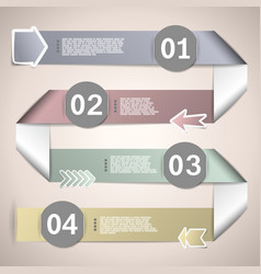 Infographic ribbons for data presentation vector image