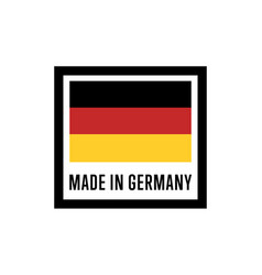 made in germany isolated label for products vector image vector image