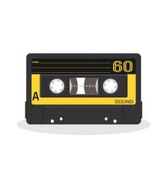 retro audio cassette design old record player vector image