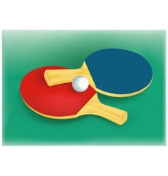 Tennis rackets and tennis ball vector image vector image