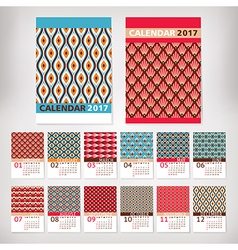 2017 year stylish calendar vector image