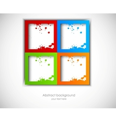 Abstract background with grunge squares vector image