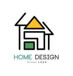 abstract house for logo design original vector image