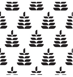abstract leaves black petal seamless pattern vector image