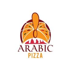 arabic pizza design template vector image