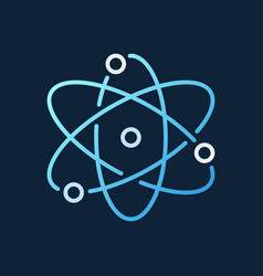 atom concept modern colorful icon in vector image