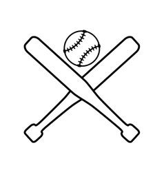 ball bat baseball sport design vector image