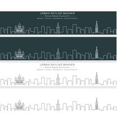 bern single line skyline banner vector image
