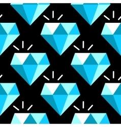 blue diamonds seamless pattern vector image