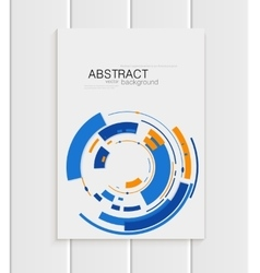 Brochure in abstract style with blue shapes vector
