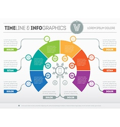 Business concept of infographic with six options vector