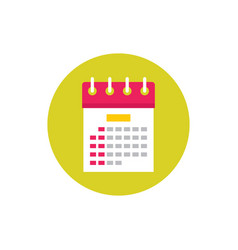 calendar agenda - concept colored icon in flat vector image