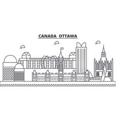 Canada ottawa architecture line skyline vector