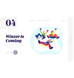 christmas holidays spare time website landing page vector image
