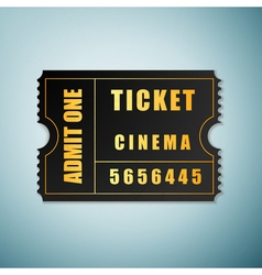 Cinema ticket icon isolated on blue background vector image