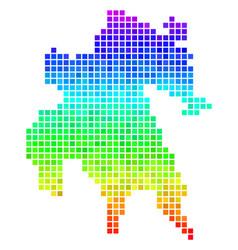 Colored pixel peloponnese peninsula map vector