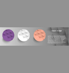 colorful circles modern abstract composition vector image