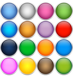 Colorful icon balls vector