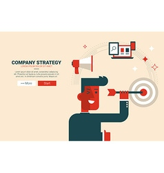 Company strategy concept vector